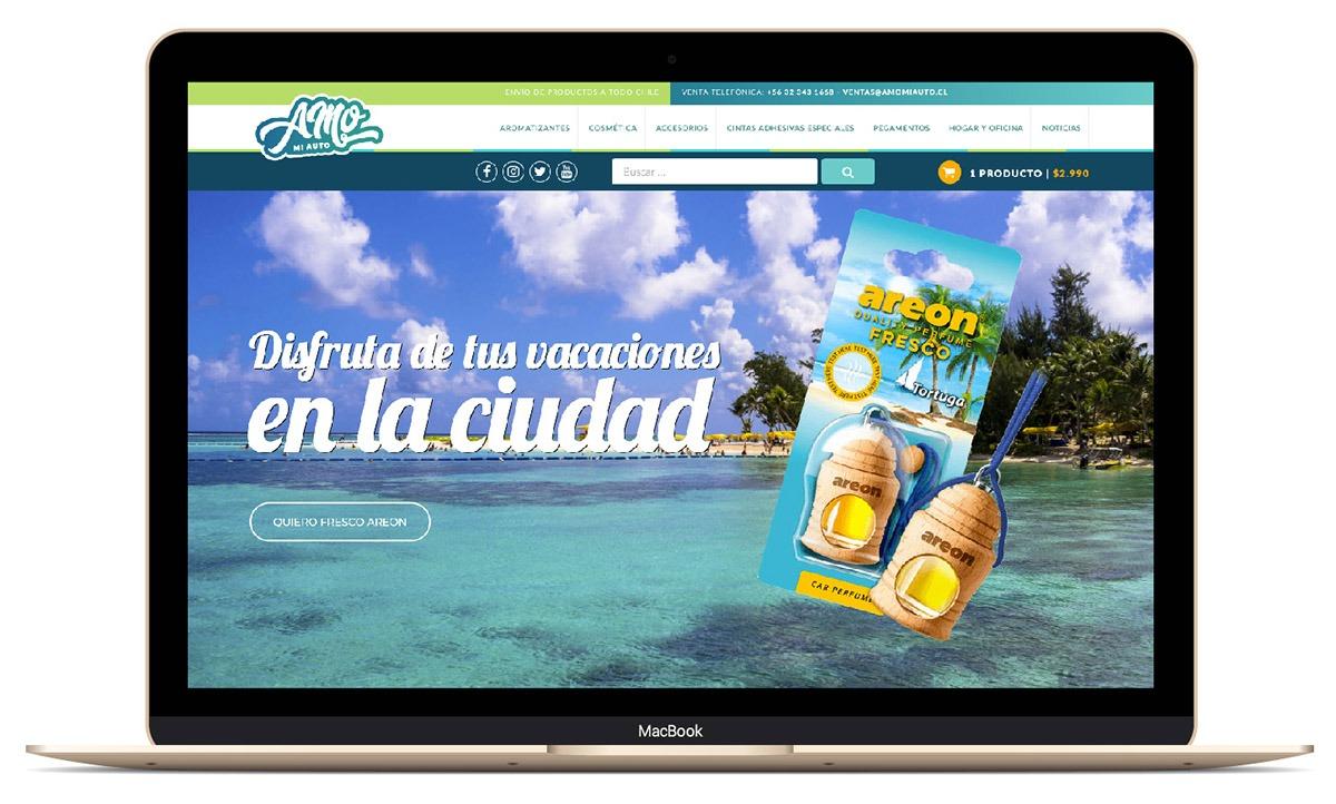 Sitio Web amomiauto.cl Venta de productos para el automóvil y el hogar.